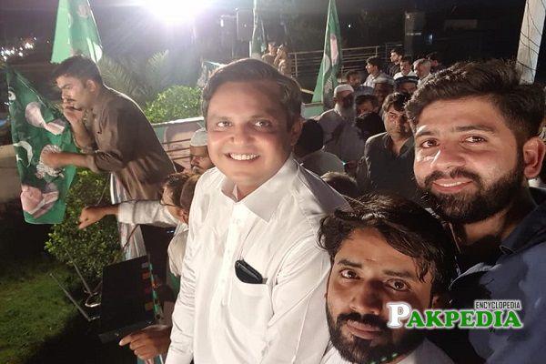 Bilal Akbar Khan during jalsa of PMLN