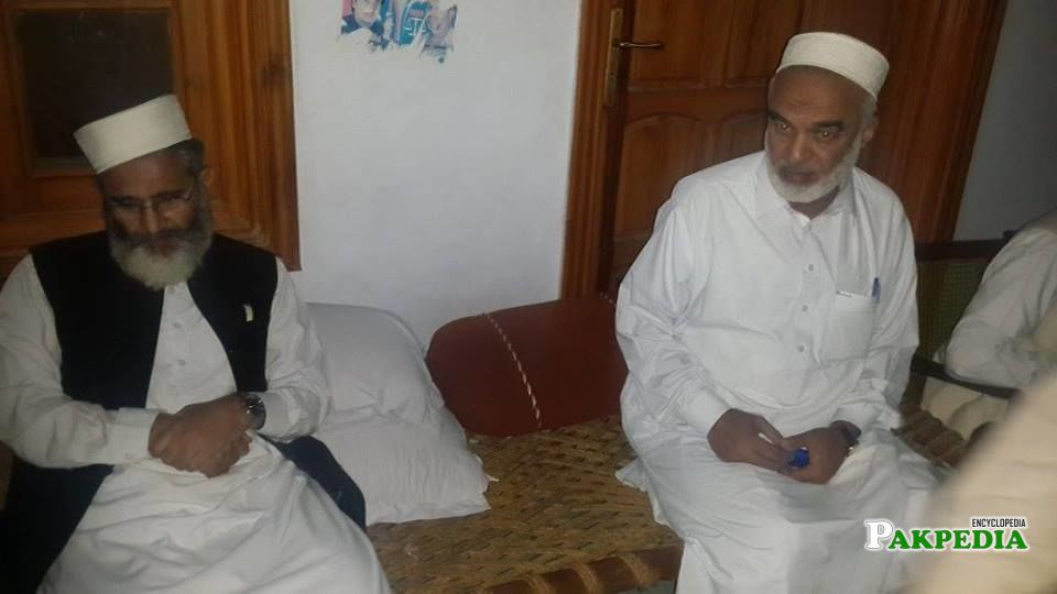With Siraj-ul-Haq