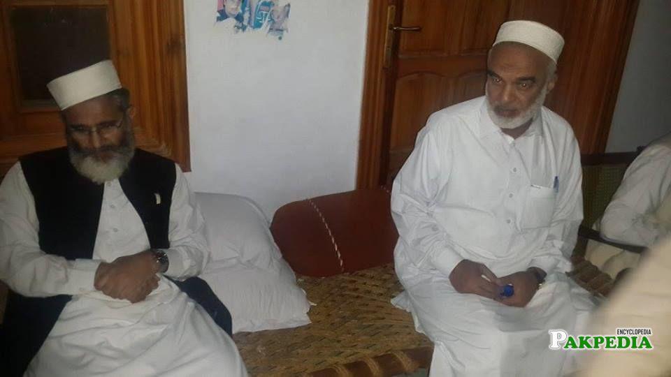 With Siraj-ul-Haq
