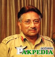 Musharraf in four-star army uniform
