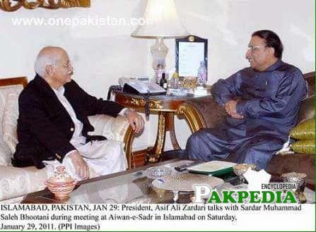 In a meeting with zardari
