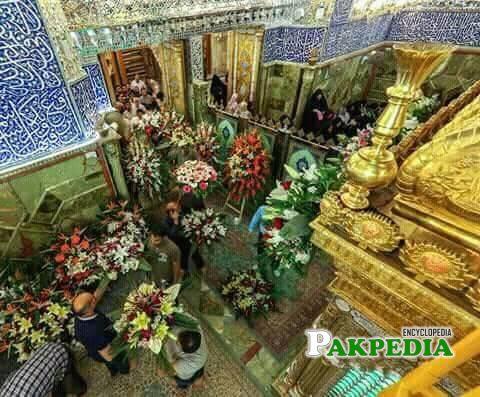 Shrine is decorated on 13 rajab
