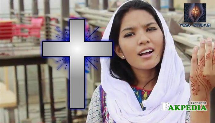 A female christian singer Rosemary Mushtaq