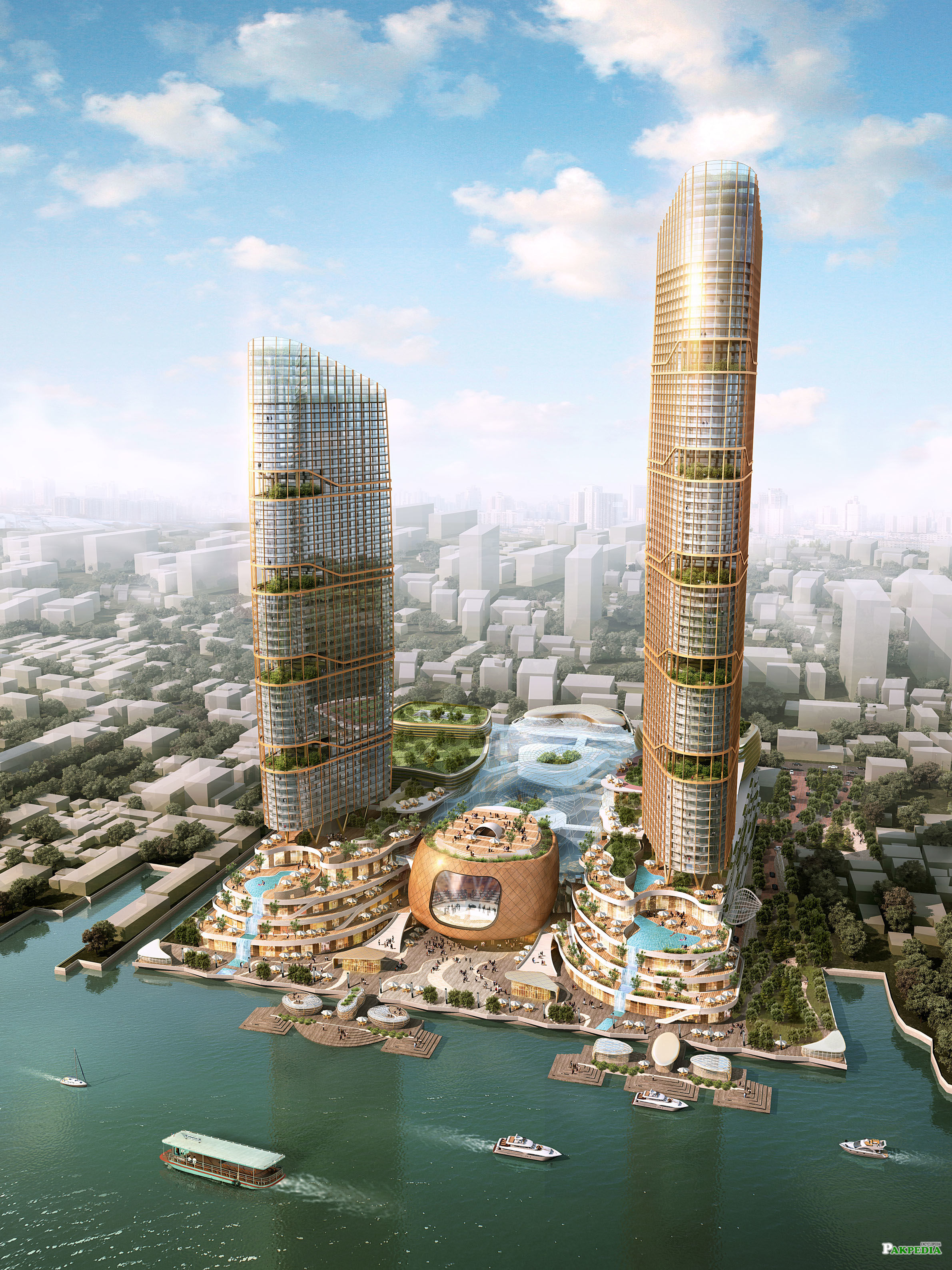 CGI tower in Dubai