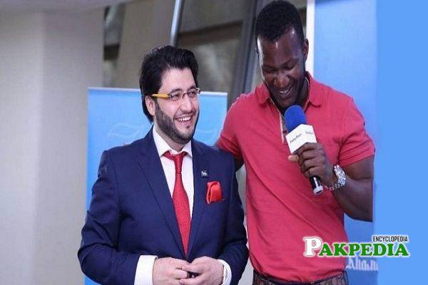 Javed Afridi with Darren Sammy