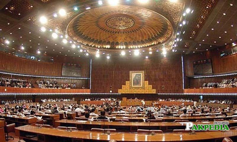Inside the Parliament house
