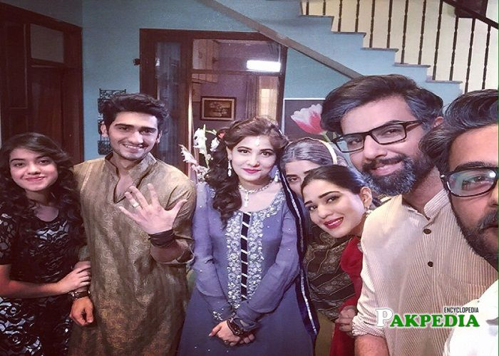 Ahmed with the cast of Abroo