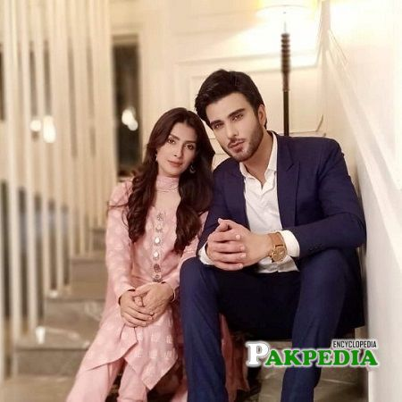 Imran with Ayeza khan on sets