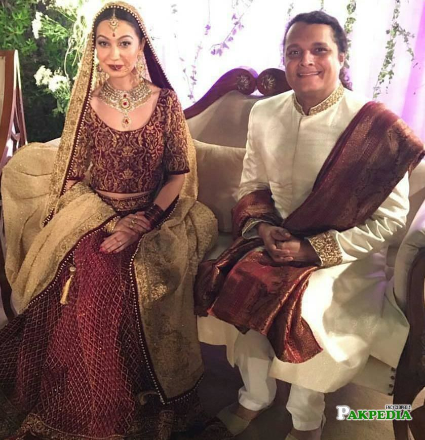 A wedding picture of Mekaal Hasan