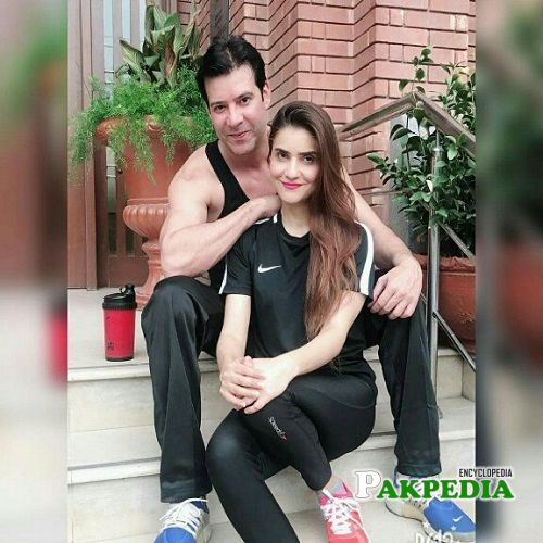 Moammar Rana with his wife