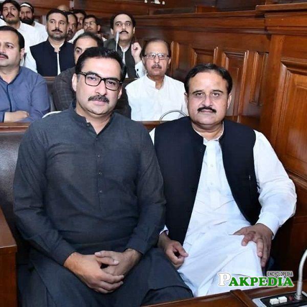 Faisal Farooq with CM Usman Buzdar