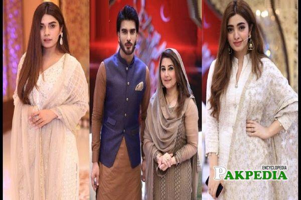 Nawal Saeed on sets of ramzan transmission