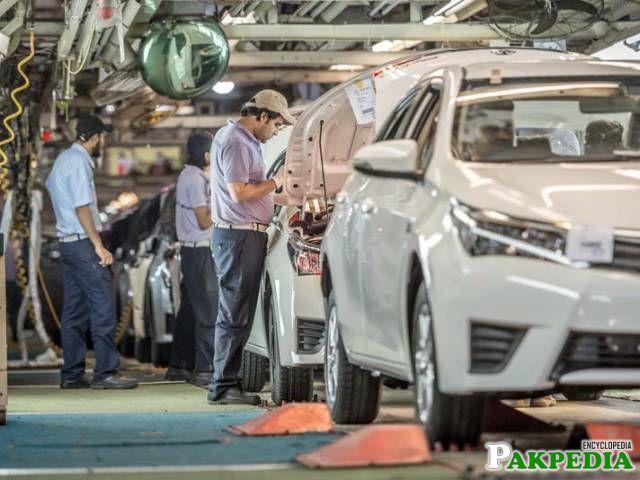 Toyota Pakistan workshop