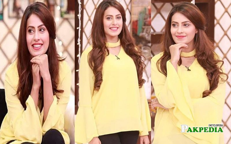 Aroha khan on the sets of Salam Zindagi