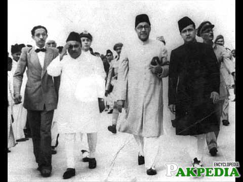 Khawaja Nazimuddin in a Front