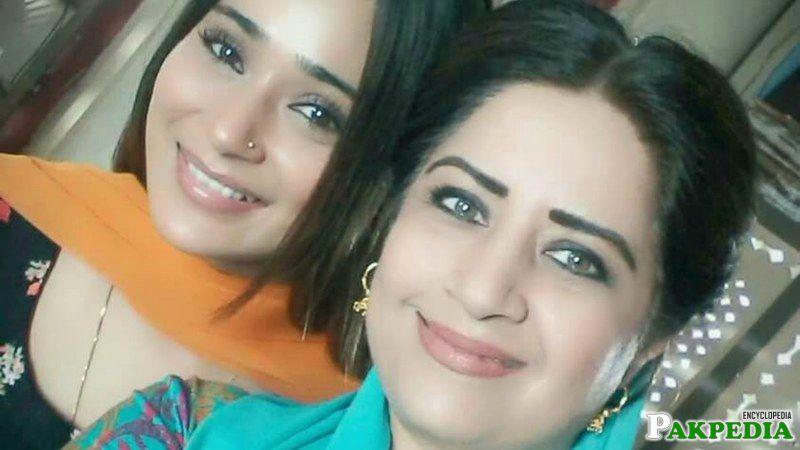 With Sara Khan