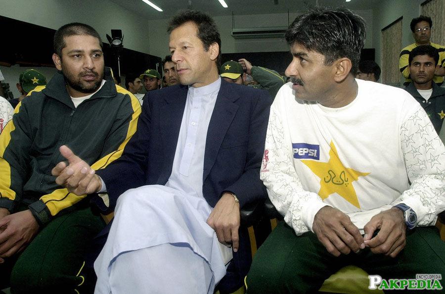 Inzamam-ul-Haq with Imran and Javed miandad