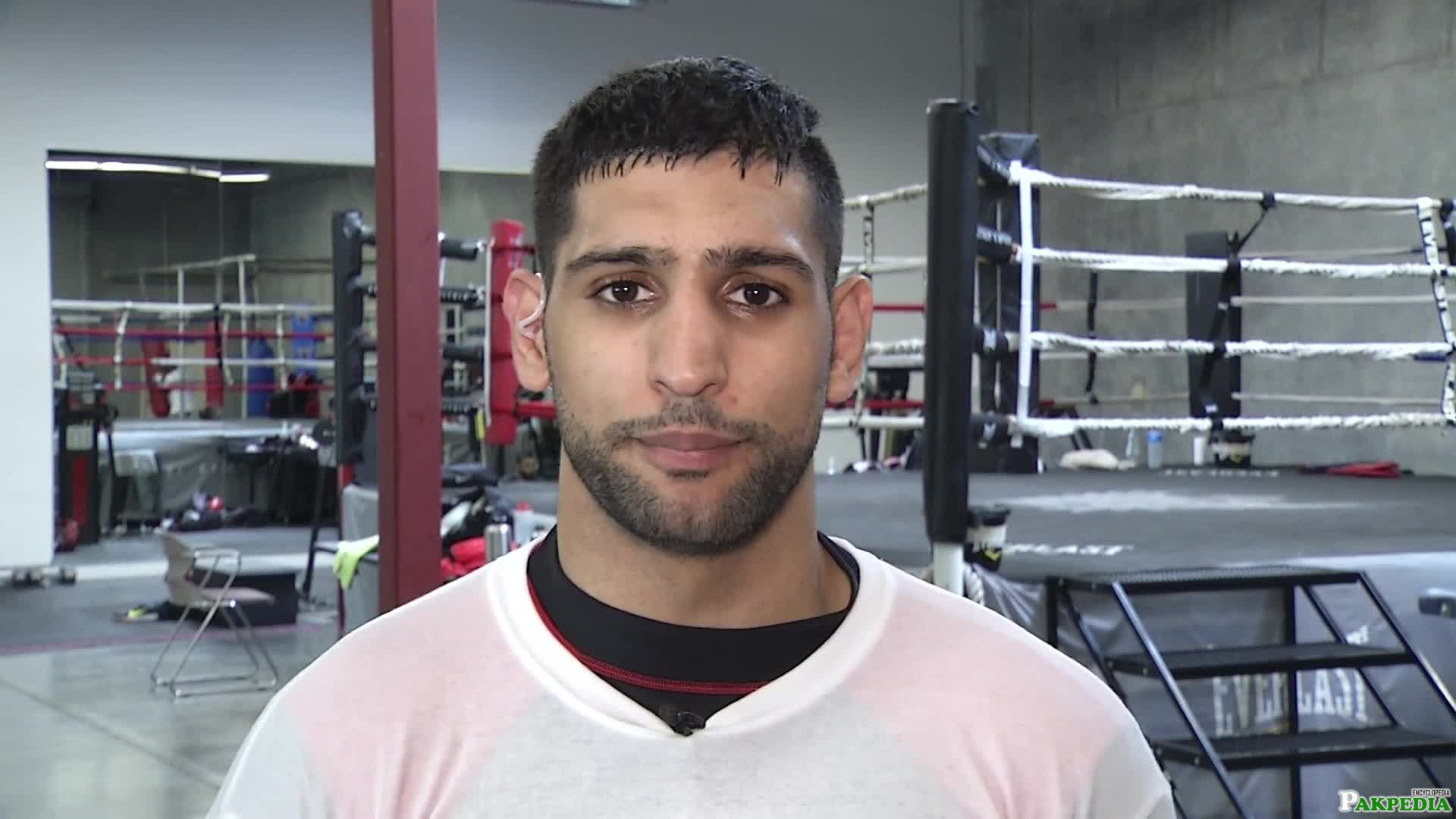 Amir Khan doning Exercise