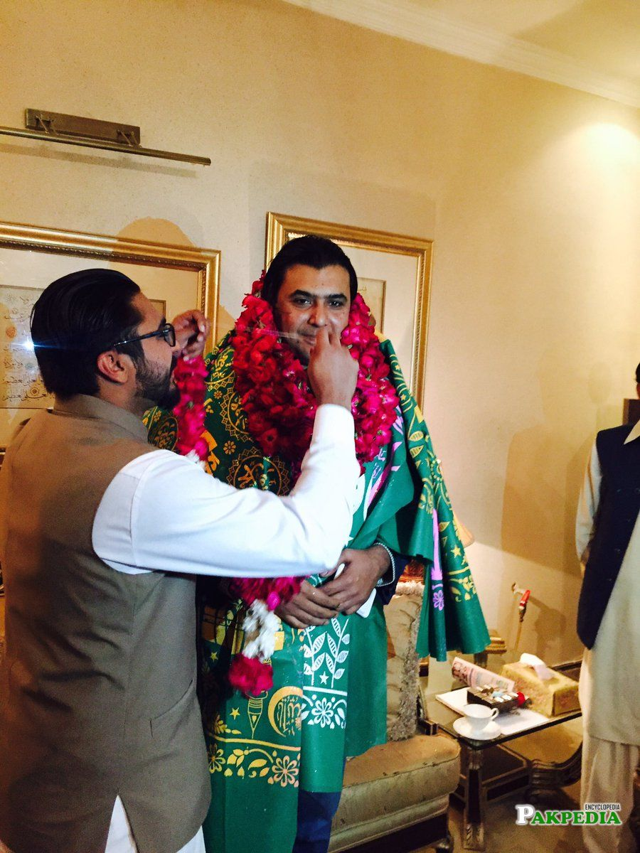 With Salman rana during celebrations of becoming Information Secretary punjab