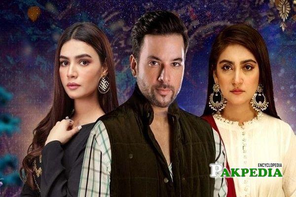 Hiba Bukhari on sets of Ramz e ishq