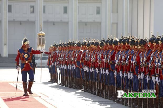 Modern day army of Mongolia
