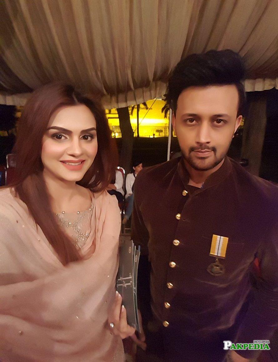 Sadia Afzal with Atif Aslam