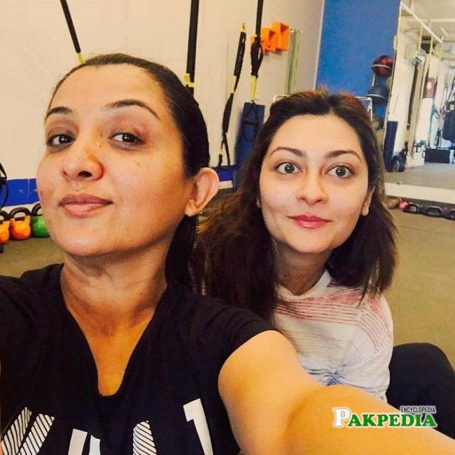 Jana Malik with Nadia Afghan