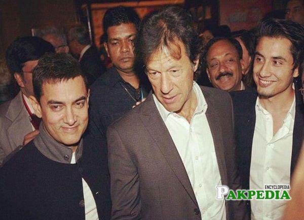 Ali Zafar with PM Imran Khan and actor Amir Khan