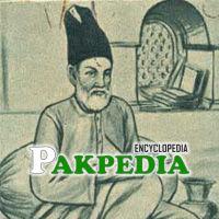 Sketch of Mirza Ghalib