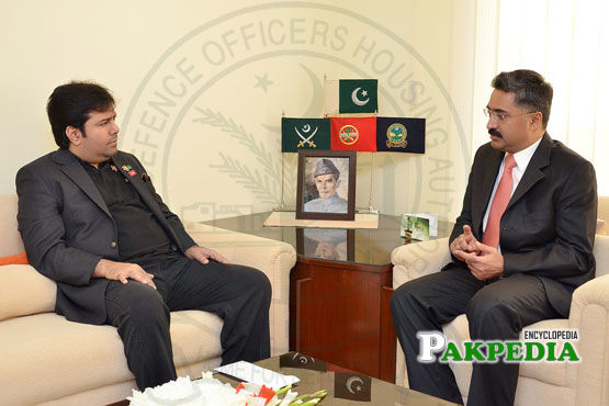 With Brig Zubair Ahmad