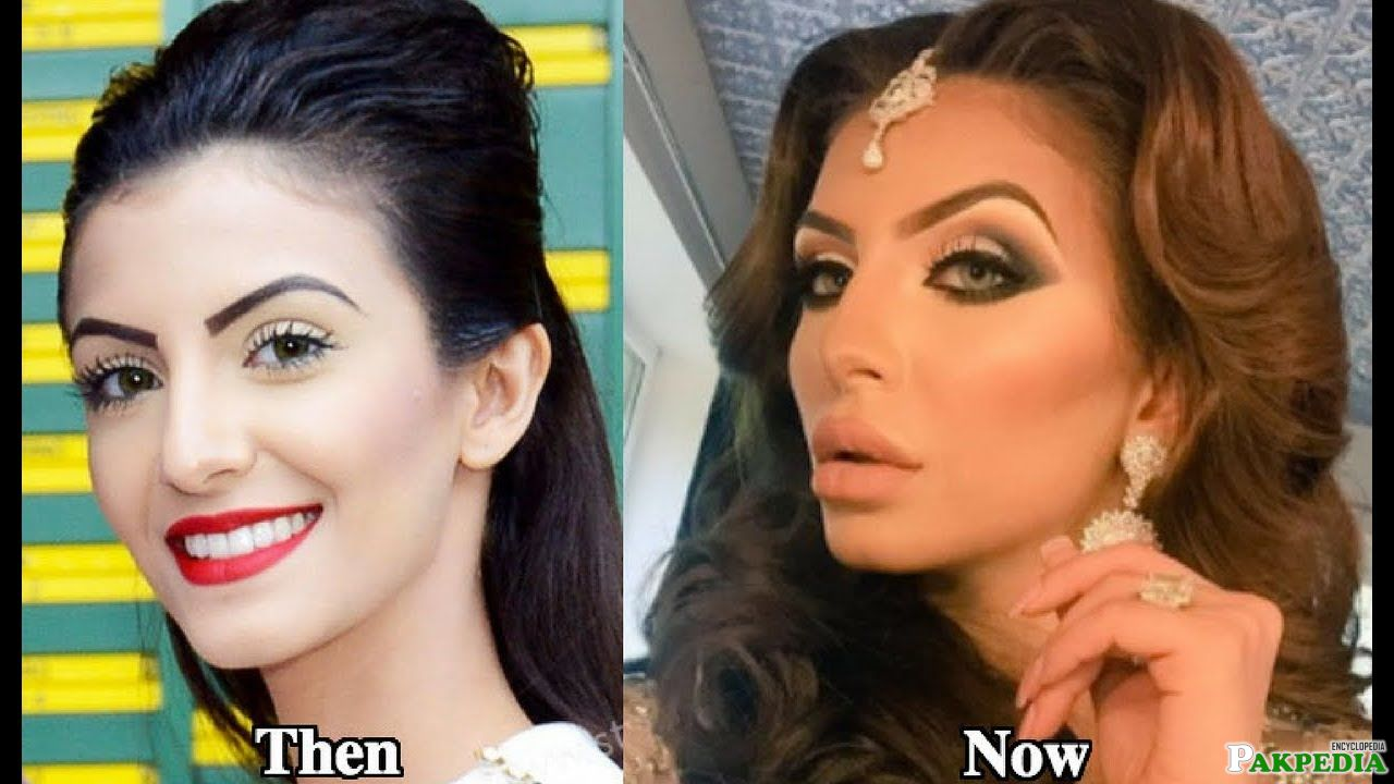 baefore and after looks of faryal