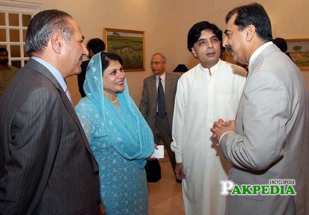 With Yousaf Raza Gillani,Nisar Ali Khan and Other