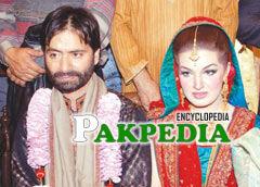 Mishal malik with her husband Yasin Malik
