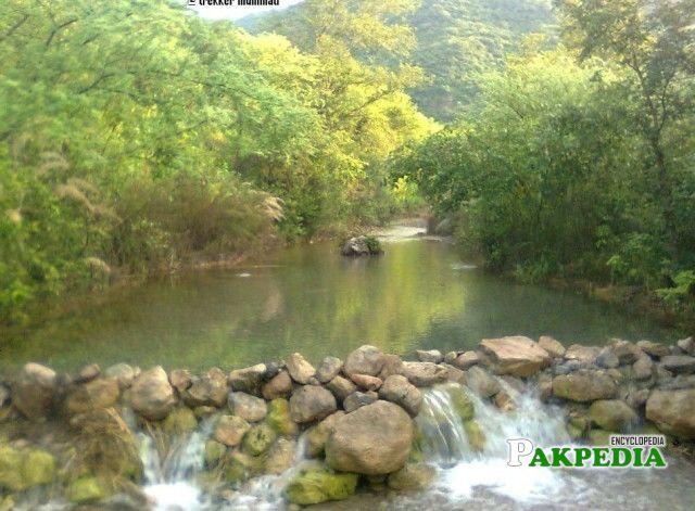 A splendid lake somewhere amidst the Margalla Hills