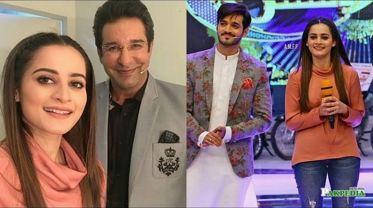 Wahaj Ali during the promotion of his drama with Aiman khan