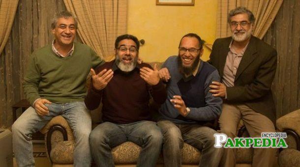 Naeem Rashid with his family members