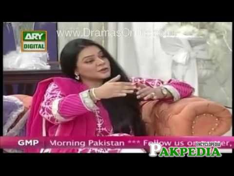 Salma in a morning show