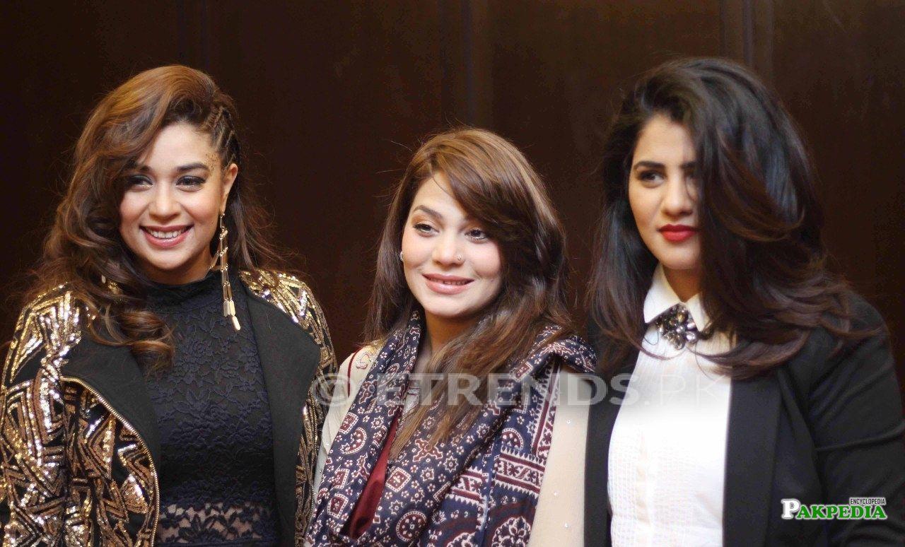 Sanam with Komal Rizvi and QB