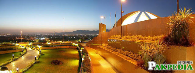 An aerial view of Pakistan Monument