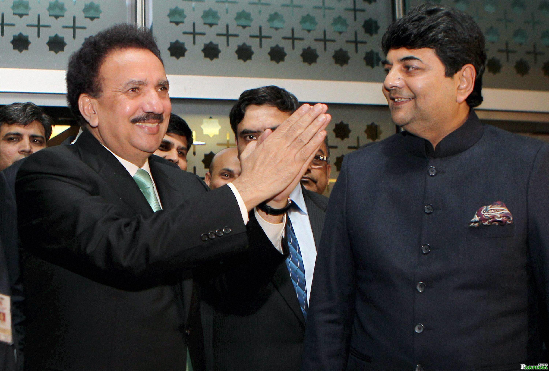 Rehman Malik Smiling