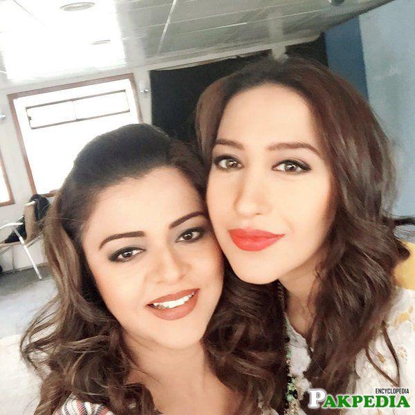 Meher Bukhari with Maria wastay