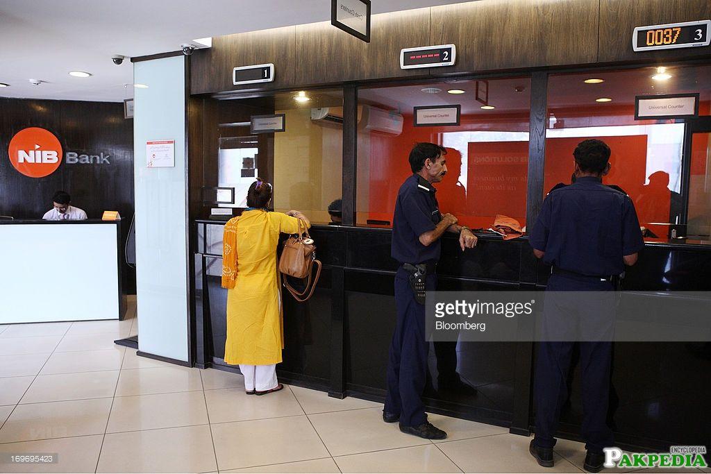 NIB Bank Cash acounter