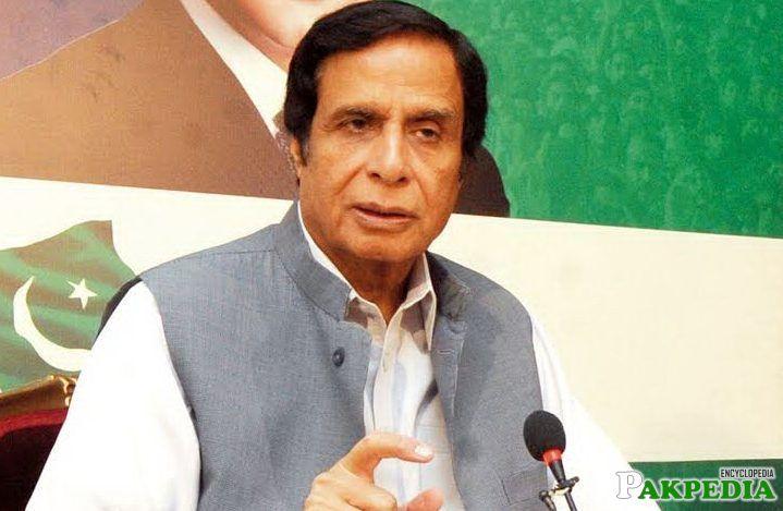 Chaudhry Pervaiz Elahi talking about somethink