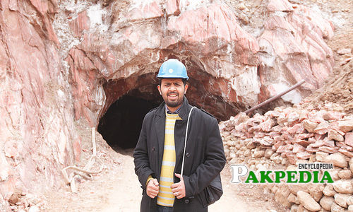 On a reporting trip to salt mines