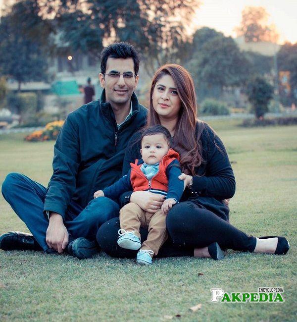 Sarah Ahmad with her family