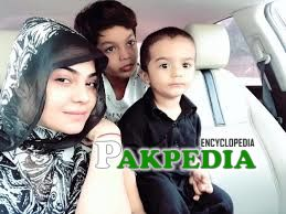 Sanam with her cute sons