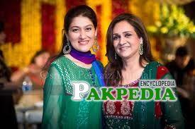 With Bushra Ansari