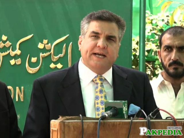 Daniyal Aziz in Election Commission