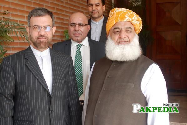 With Maulana Fazal-ur-Rehman
