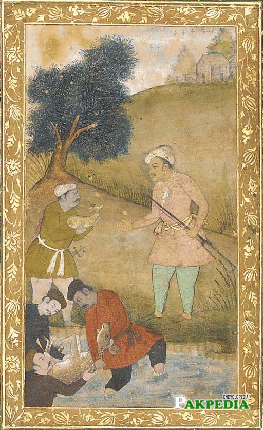 Jahangir on hunting
